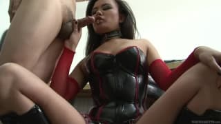 Annie Cruz is brutal with this asian dick